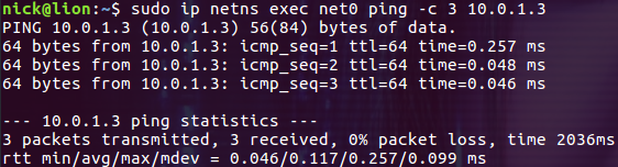 Linux Namespace : Network
